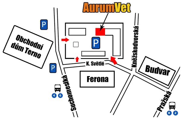 Mapa k ordinaci